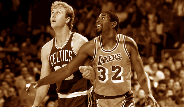 Vintage Larry Bird & Magic Johnson